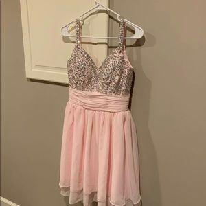 Short homecoming formal dance dress